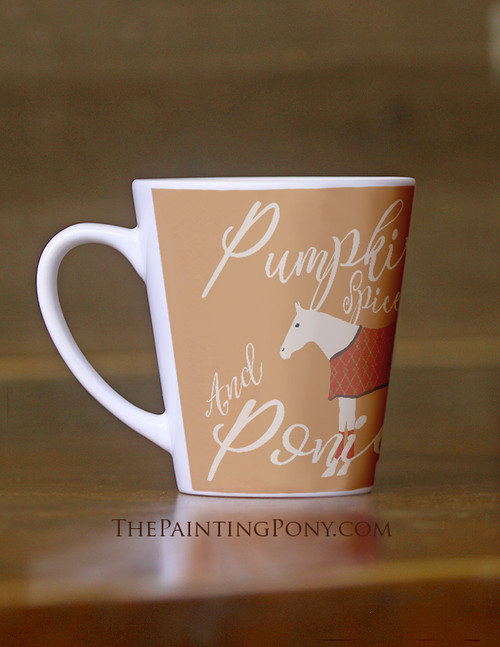 Pumpkin Spice and Ponies Equestrian Latte Coffee Mug