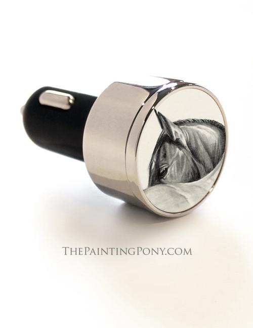 Horse Head Art USB Card Charger