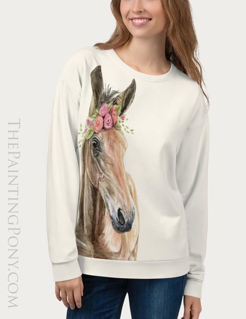 Bohemian Horse Head Equestrian Sweatshirt