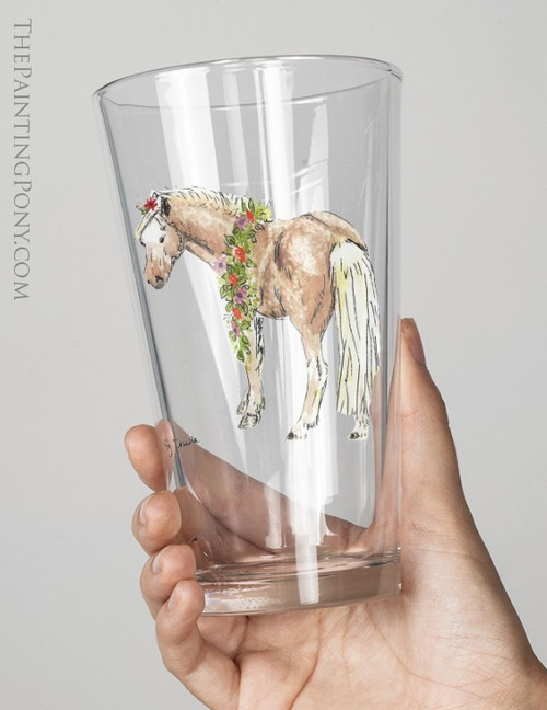 Whimsical Spring Pony Equestrian Pint Glass