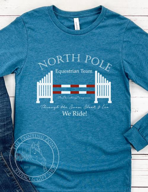 North Pole Equestrian Team Crew Neck Long Sleeve Tee