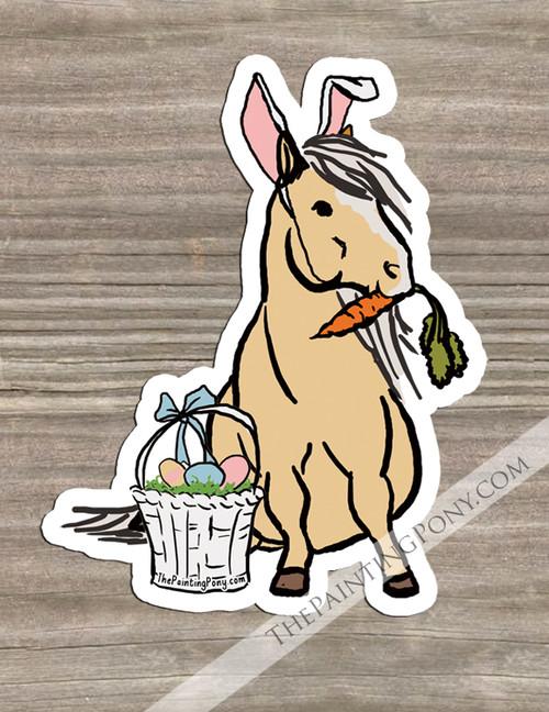 Easter Pony Die-Cut Vinyl Sticker