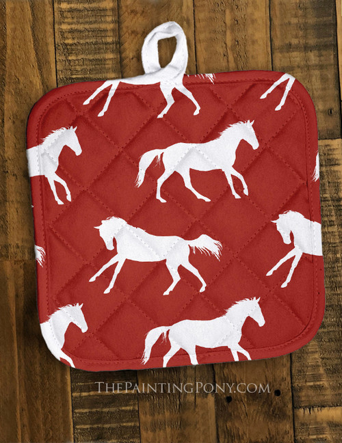 Galloping Horse Pattern Pot Holder