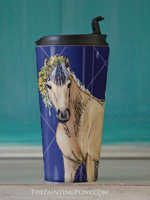 Buckskin Pony Equestrian Travel Tumbler