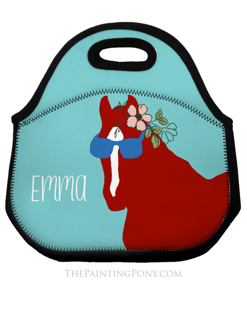 Sunglass Pony Personalized Equestrian Lunch Tote Bag