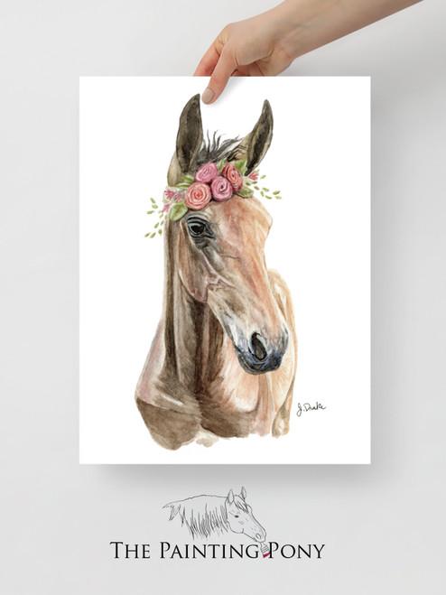 Bohemian Horse Foal Art Equestrian Art Print