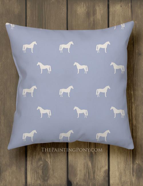 Horse Pattern Equestrian Throw Pillow