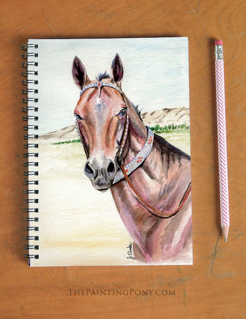 Akhal-teke Horse Head Equestrian Spiral Notebook