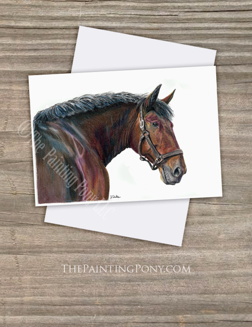 Cleveland Bay Horse Head Fine Art Note Cards (10 pk)