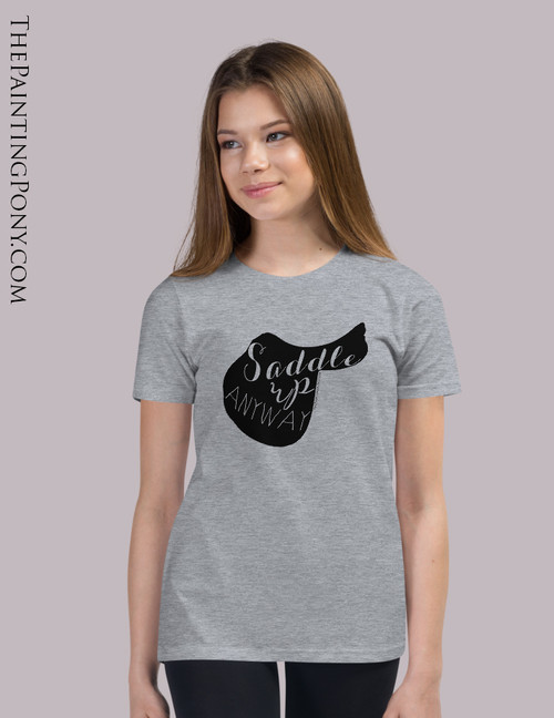 Saddle Up Anyway Equestrian Youth T-Shirt