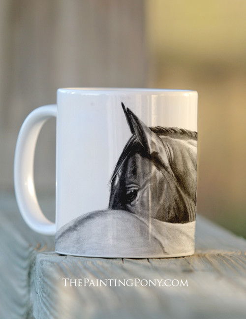 Horse Eye Art Equestrian Coffee Mug