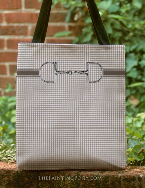 Slow Twist Horse Bit Equestrian Tote Bag