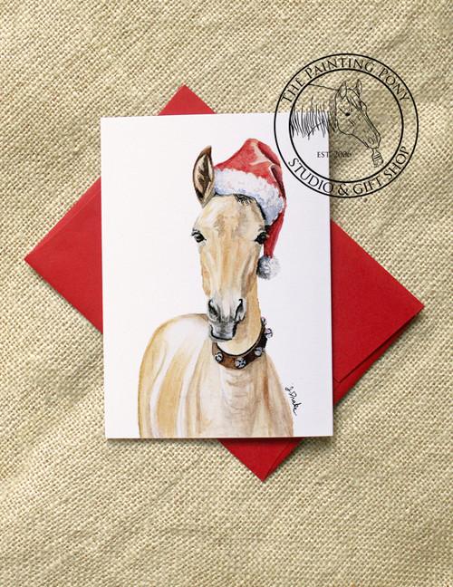 Santa Horse Foal Equestrian Christmas Cards (10 pk)