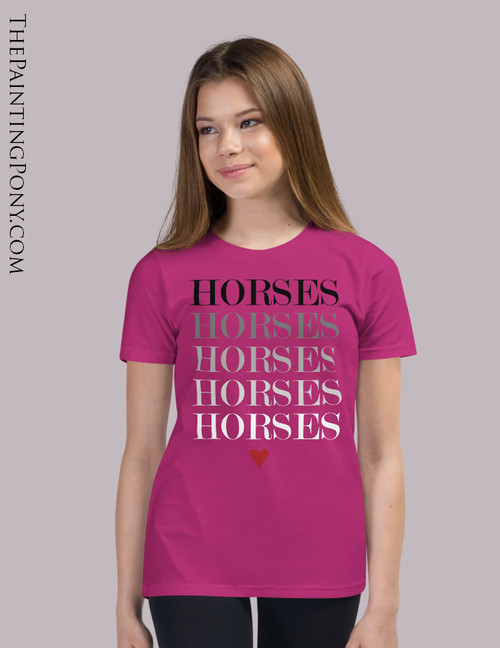Horse Lover Equestrian Youth T-Shirt