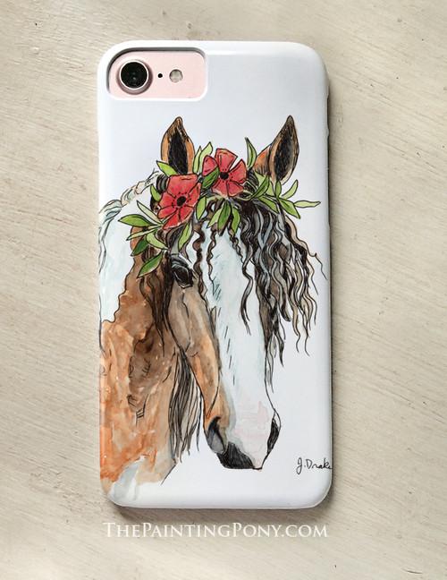 "Bohemian Horse Head Art ""Josie"" Equestrian Phone Case"