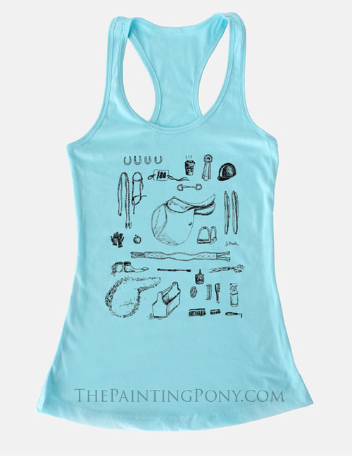 Hunter Jumper Equestrian Racerback Tank Top