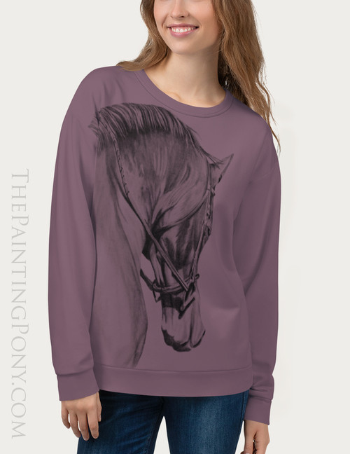 Collected Horse Head Equestrian Sweatshirt
