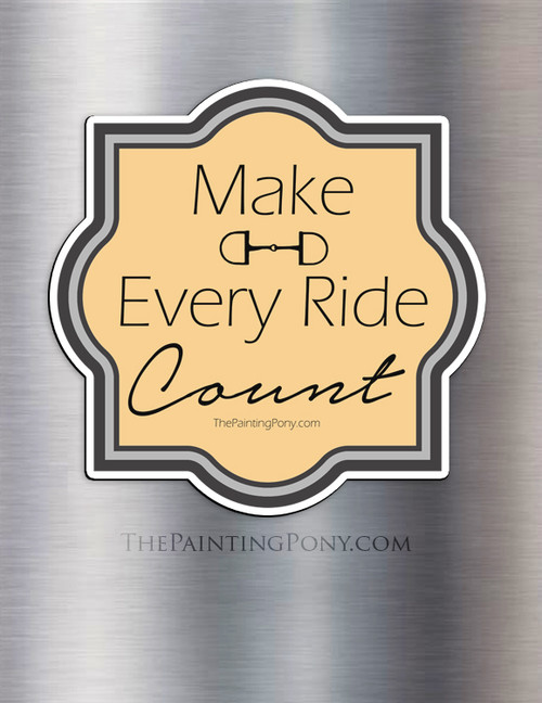 Make Every Ride Count Equestrian Magnet