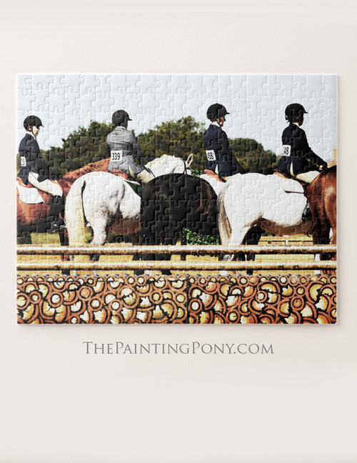 Horse Show Line Up Equestrian Jigsaw Puzzle