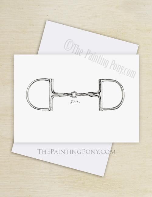 Slow Twist Horse Bit Equestrian Fine Art Note Cards (10 pk)