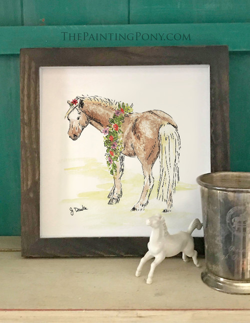 Whimsical Spring Pony Equestrian Art Print