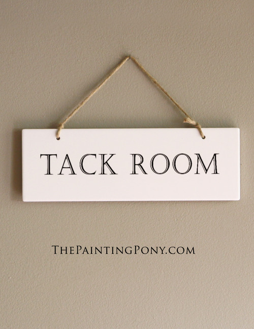 Tack Room Ceramic Barn Sign (Choose Your Own Colors)