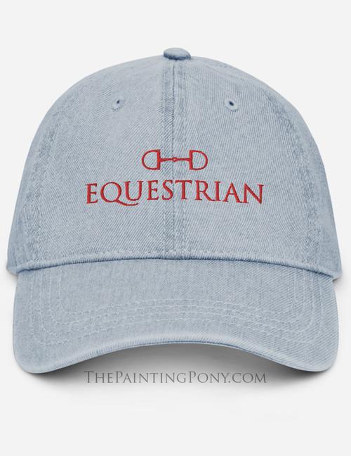 Equestrian Emroidered Denim Hat