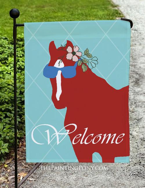Sunglass Pony Equestrian Summer Garden Flag