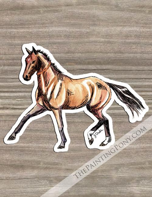 Akhal-teke Horse Die-Cut Vinyl Sticker