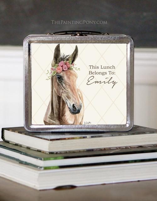 Bohemian Horse Art Personalized Lunch Box