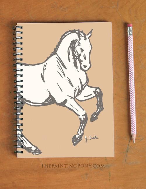 Dressage Horse Equestrian Spiral Notebook