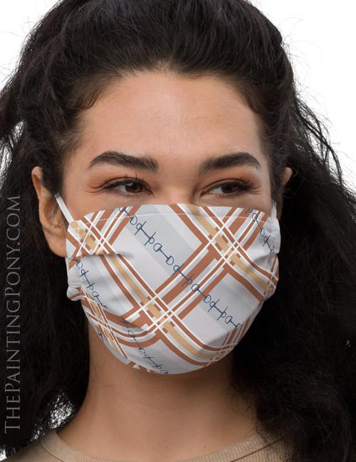 Plaid Horse Bit Pattern Equestrian Face Mask Coverlet