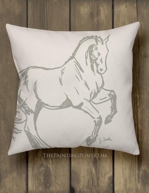 Dressage Horse Equestrian Throw Pillow