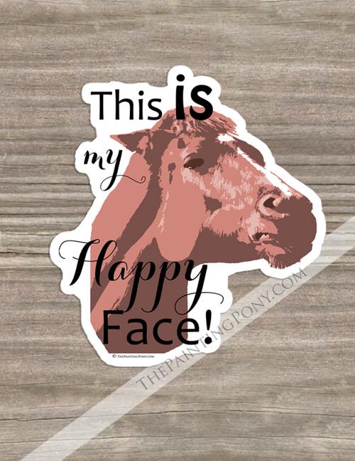 Chestnut Mare Funny Equestrian Die-Cut Vinyl Sticker