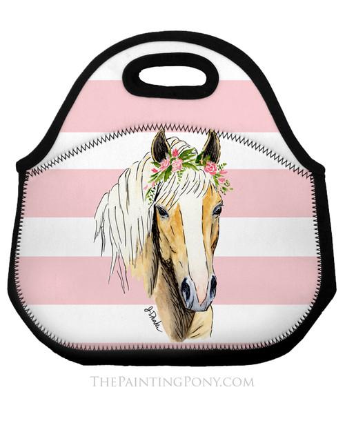 Haflinger Horse Lover Equestrian Lunch Tote Bag