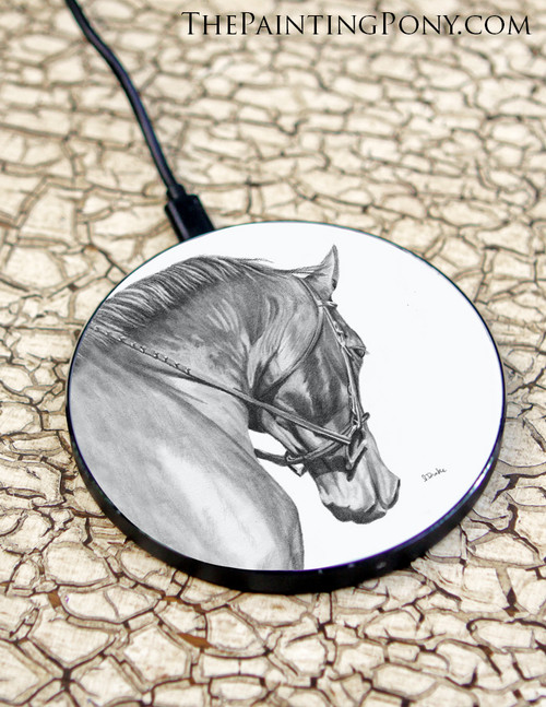 Collected Horse Head Art Wireless Charger