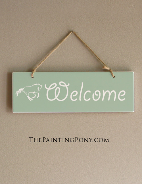 Personalized Galloping Horse Farmhouse Style Ceramic Wall Hanging
