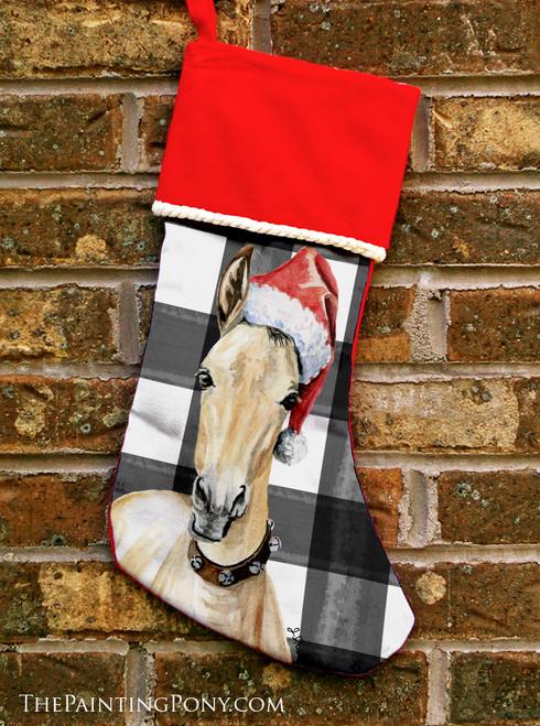 Santa Horse Foal Equestrian Christmas Stocking