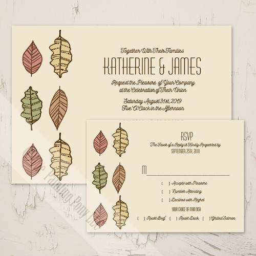 Fall Leaves Wedding Invitation (10 pk)