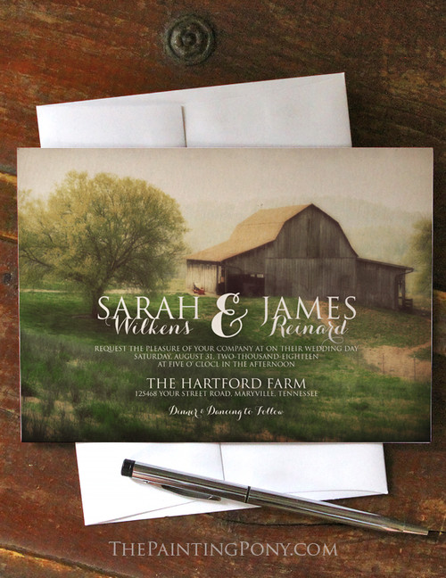 Country Horse Barn Wedding Invitation (10 pk)