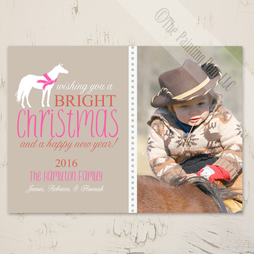 Country Horse Christmas Photo Card