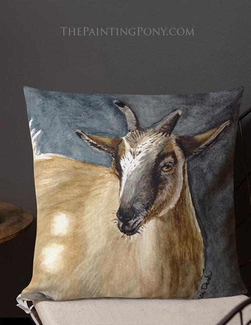 Goat Head Throw Pillow