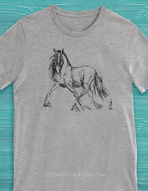 Trotting Horse Sketch T-Shirt