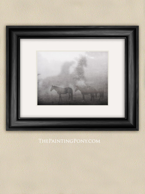 Horses in the Fog Fine Art Print