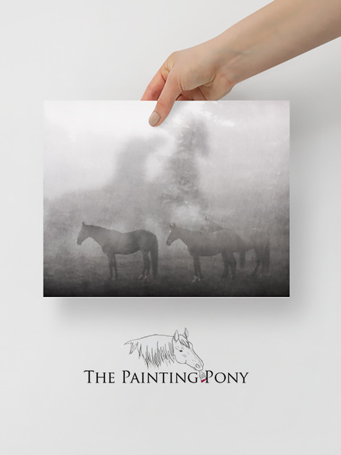 Horses in the Fog Fine Art Print
