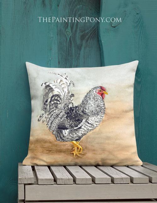 Chicken Art Throw Pillow