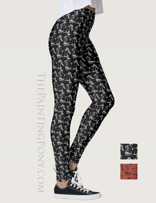 Jumping Horse Equestrian Leggings