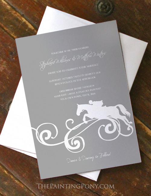 Equestrian Juping Horse Wedding Invitation (10 pk)