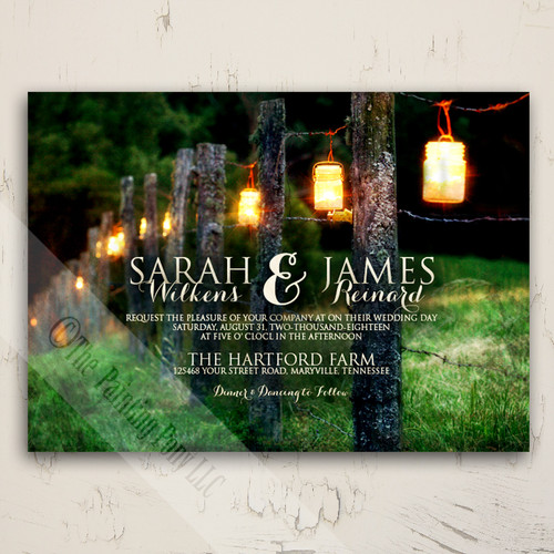 Rustic Country Mason Jar Wedding Invitation set