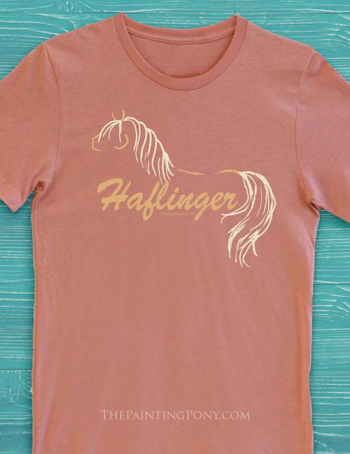 Haflinger Horse Adult T-Shirt
